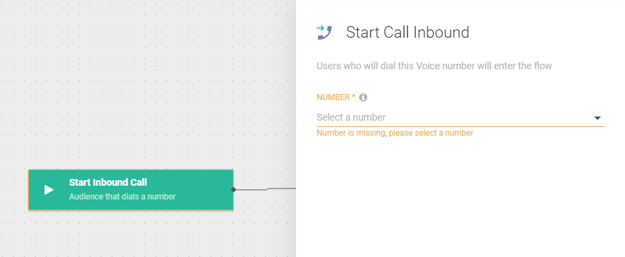 Flow use case -  Improve Customer Care Responsiveness - start inbound call
