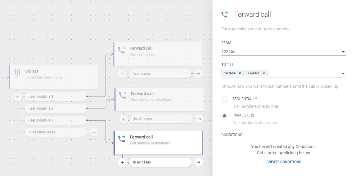 Flow use case -  Improve Customer Care Responsiveness - parallel dialing
