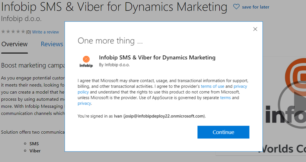 Infobip SMS and Viber for Dynamics Marketing