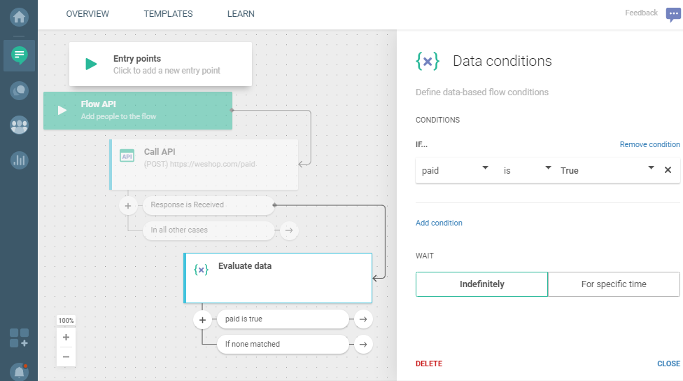 Flow use case - Automate Your Welcome Messages - evaluate data