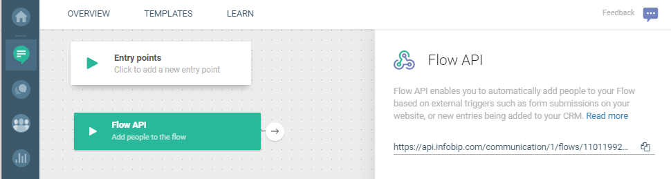 Flow use case - Automate Your Welcome Messages - use flow API