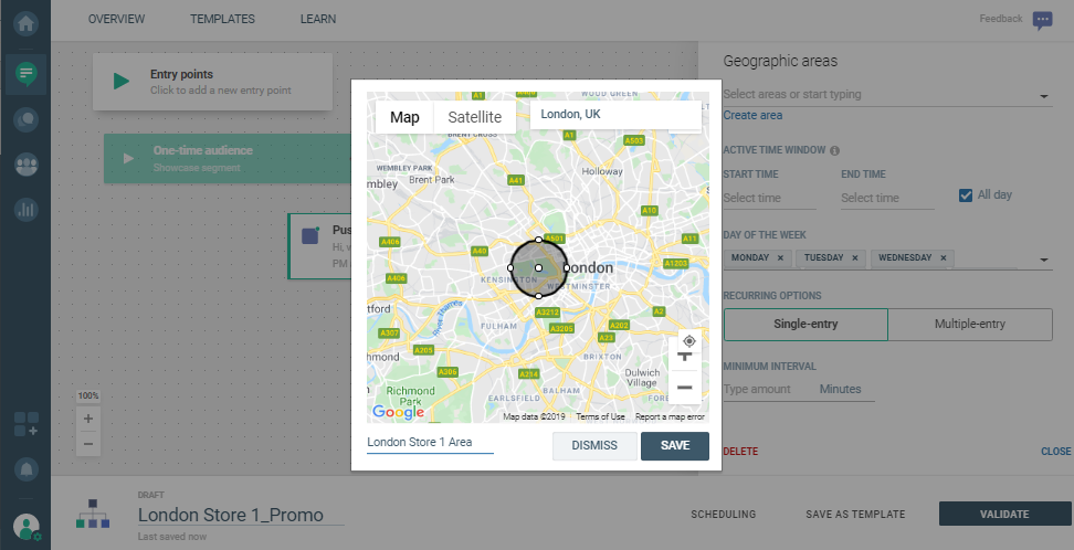 MaM use case - Increase Store Footfall with Geo-Contextual Targeting - advanced options