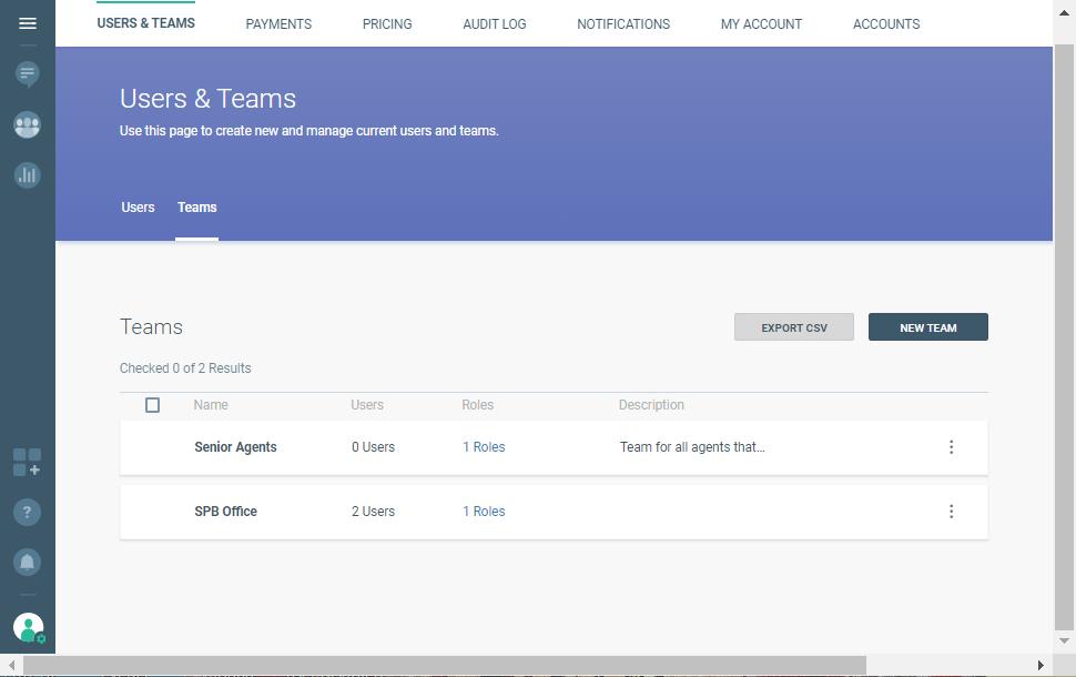 managing users and teams on user platform