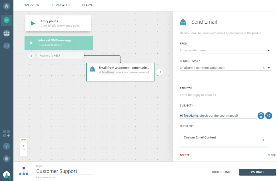 Flow use case - Automate and Optimize Your Customer Support - send email