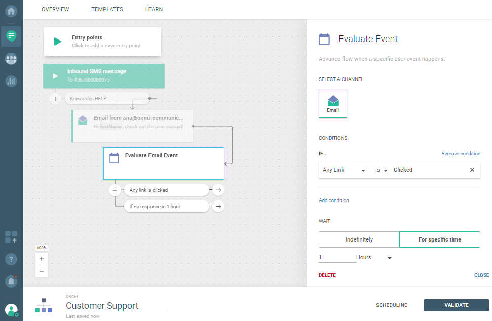 Flow use case - Automate and Optimize Your Customer Support - evaluate email event