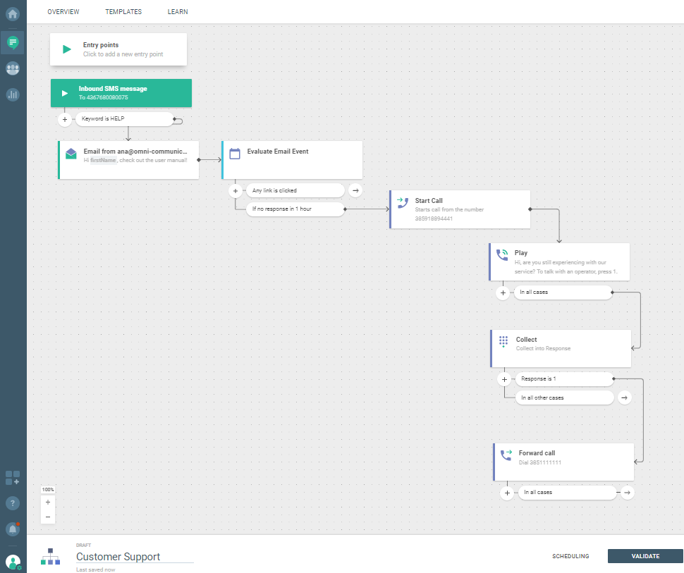 Flow use case - Automate and Optimize Your Customer Support - forward call