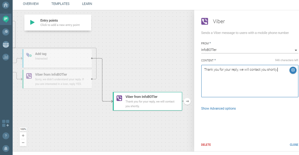 Flow use case - Send Personalized Loan Offer - enter content