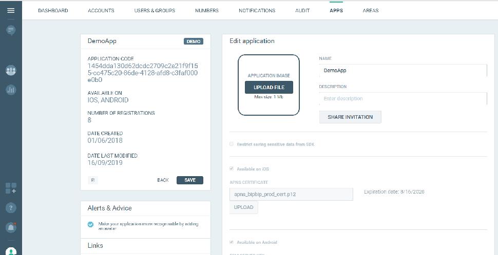 MAM - Send Account Balance Notifications - application code