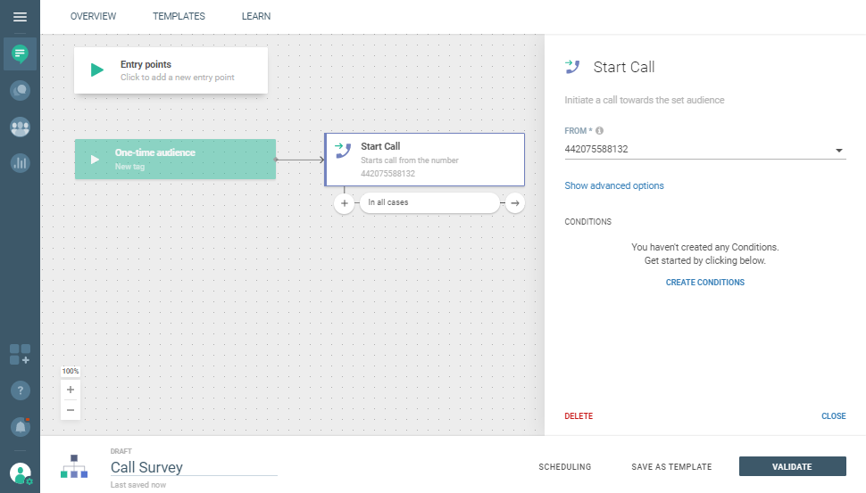 Voice use case - Make Your Customers' Voice Matter - start IVR flow