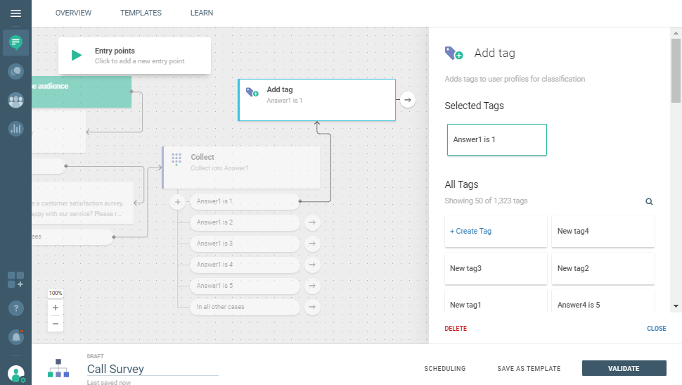 Voice use case - Make Your Customers' Voice Matter - add Tag