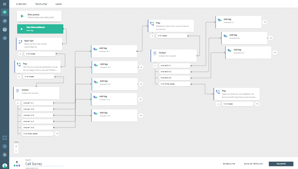 Voice use case - Make Your Customers' Voice Matter - flow example