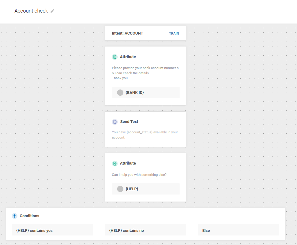 Dialog preview for account status