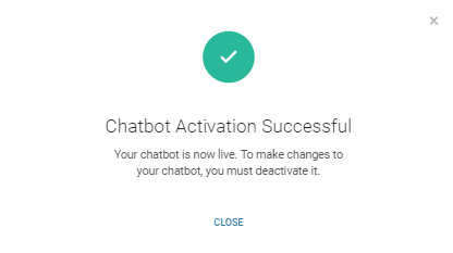 Chatbot activation successful