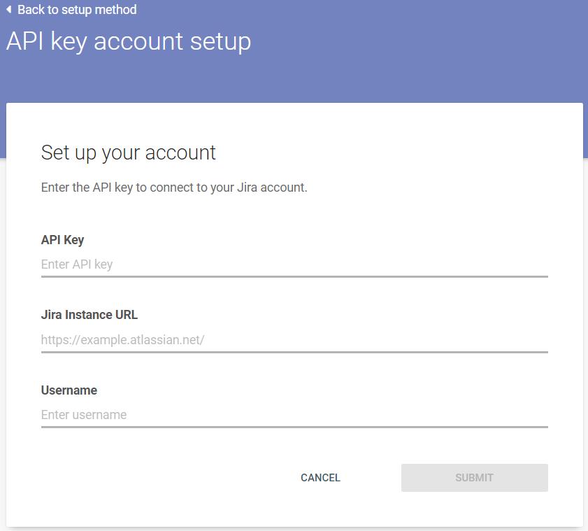 API Key account setup - link Jira to Infobip