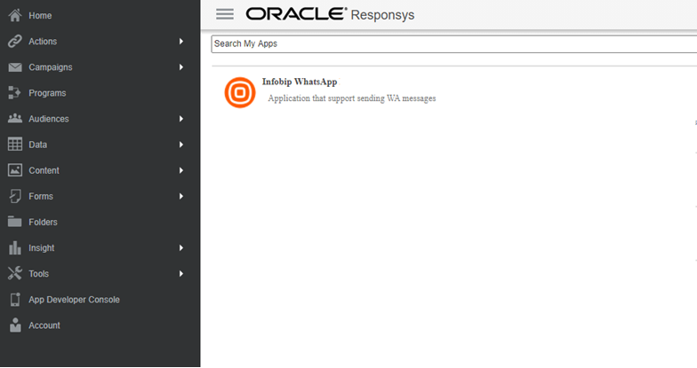App management - Oracle Responsys