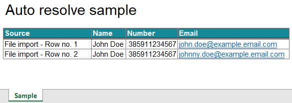auto resolve duplicate information