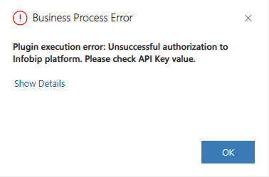 Configuration error - business process error