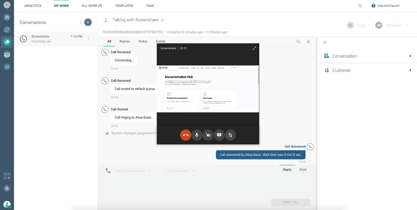 Calls - Screen sharing options