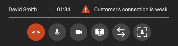 Calls - Customer's connection is weak