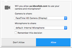 Calls - Enable camera in Firefox