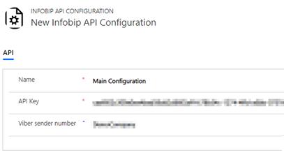 Change Infobip API configuration