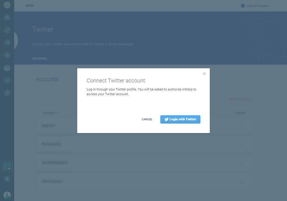 Social Media - Log in with Twitter