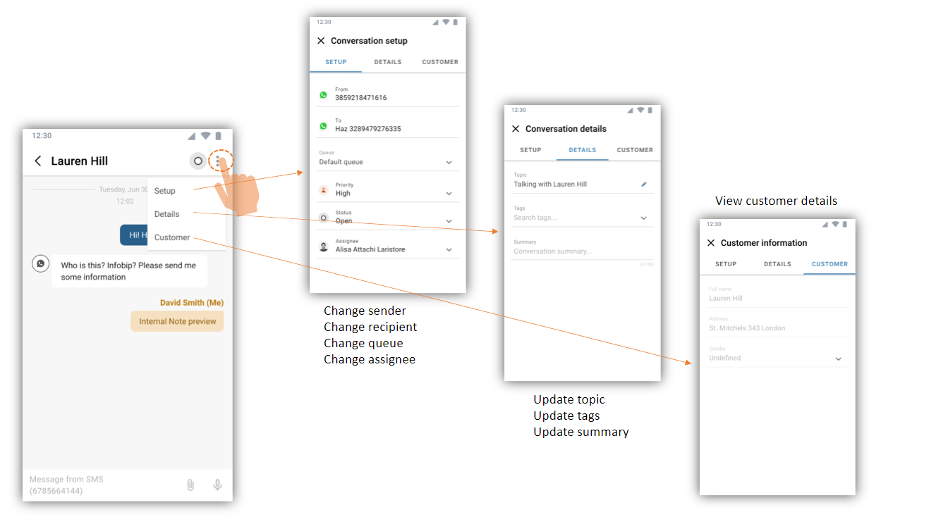 Conversations - Manage conversations in the mobile app