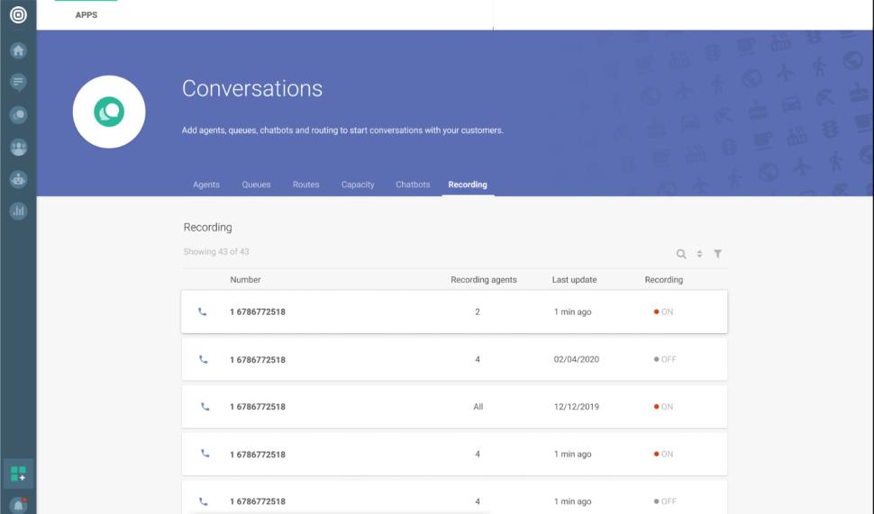 Conversations - Voice - recording