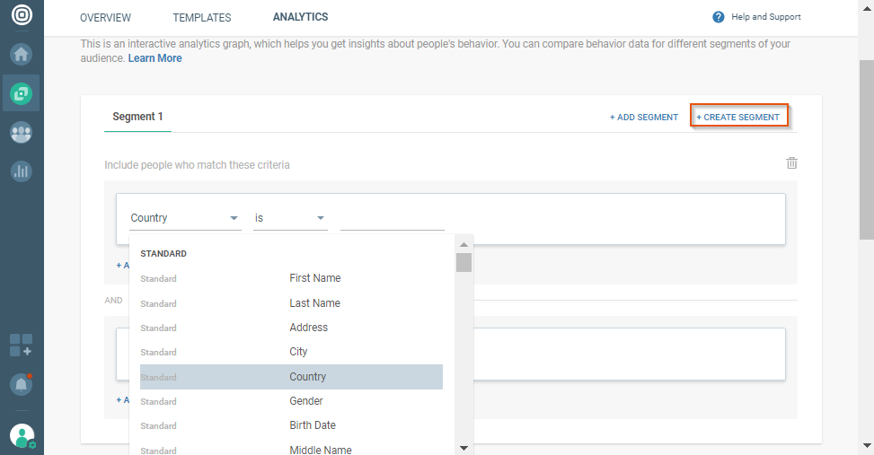 creating segments for cpaas analytics