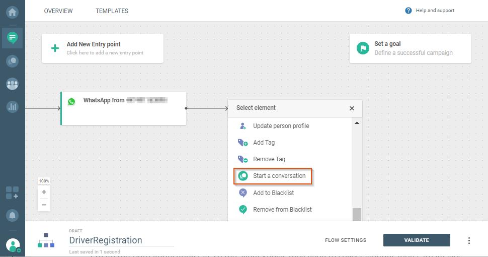 user registration via ccaas