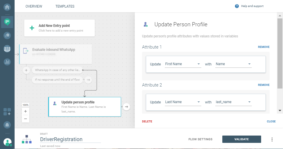 update user attributes on cpaas