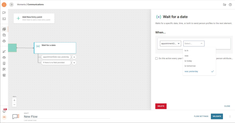 sending due date reminder from communication platform