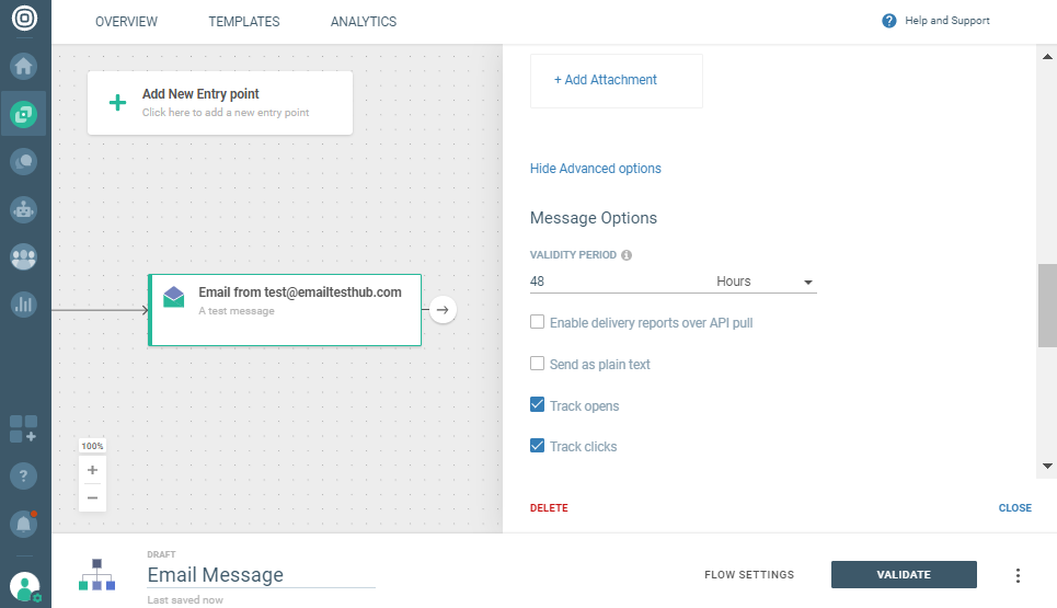 click and open tracking in email