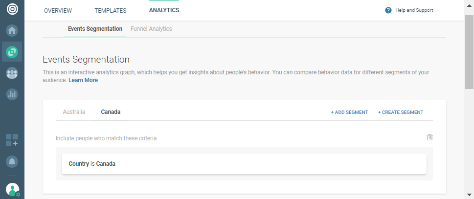 selecting audience segments on cpaas
