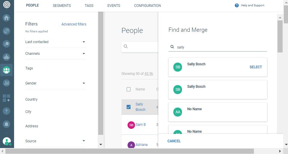 merge customer profile on cpaas