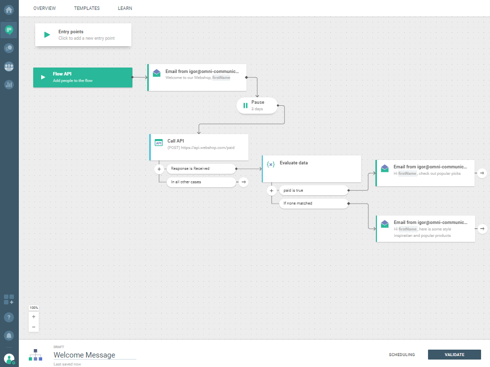 Flow use case - Automate Your Welcome Messages - set conditions
