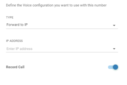 Voice - Forward to IP
