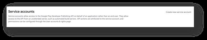 Google Play Reviews - Service account