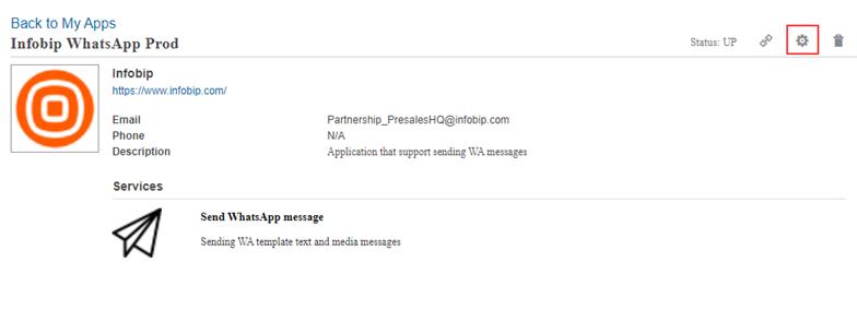 App management - Oracle Responsys with Infobip platform