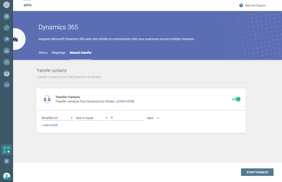 People to Dynamics 365 file transfer