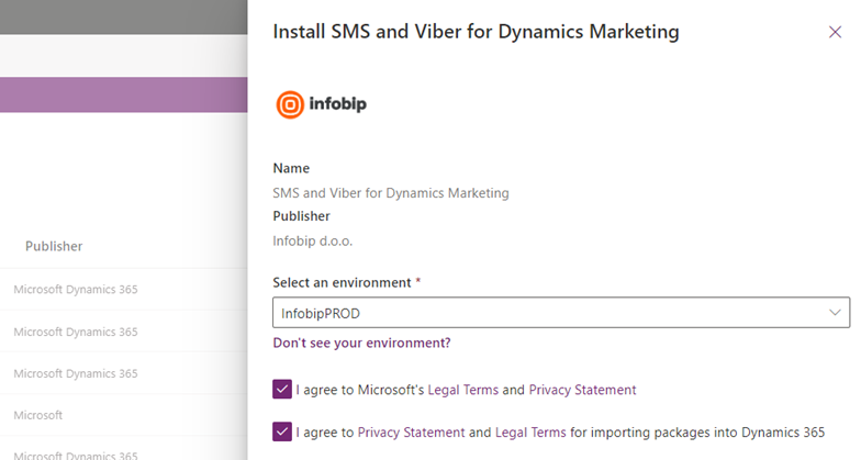 Install SMS and Viber plugin for Dynamics Marketing
