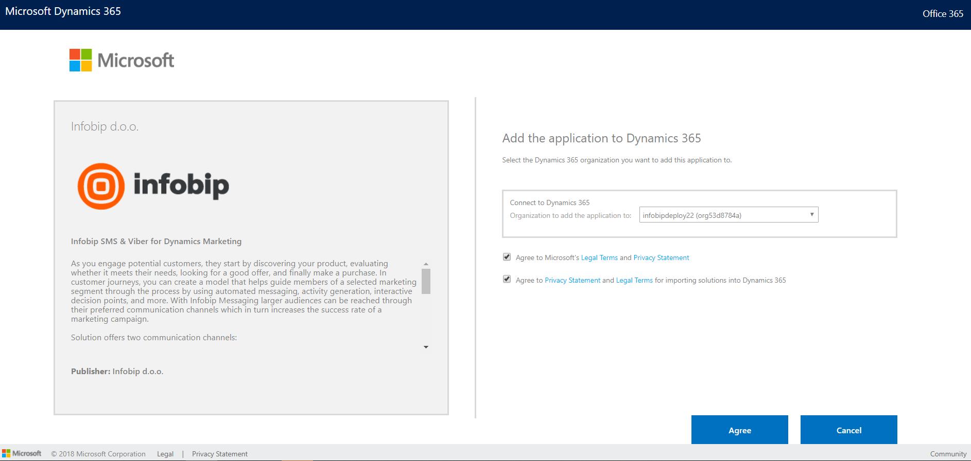 Microsoft Dynamics installation - Infobip