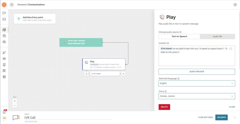 ivr on customer engagement platform