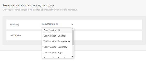 JIRA - Use predefined values when creating new issues