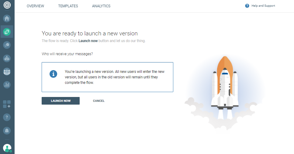 launching new version on cpaas