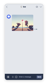 Line mockup - send images