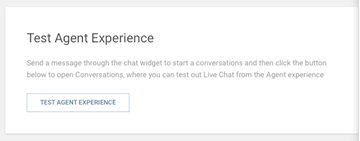 Live Chat - Test agent experience