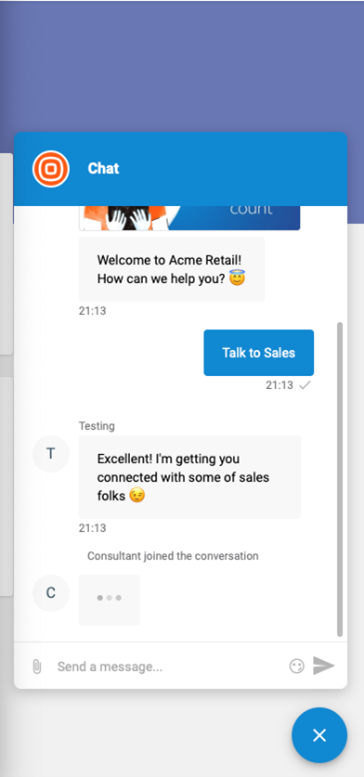 Live Chat - Visitor experience