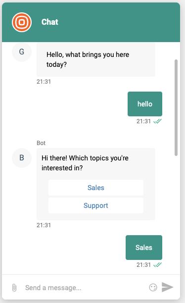 Live Chat - Widget features