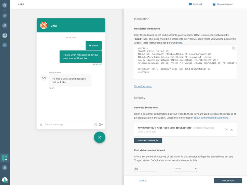 Live Chat - Widget installation instructions